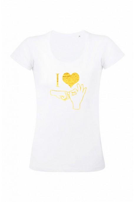 Mot. marškinėliai I love sex