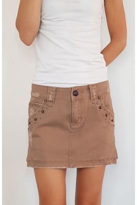 Džinsinis Silvian sijonas su kiedėmis