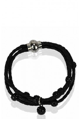 Shamballa leather apyrankė