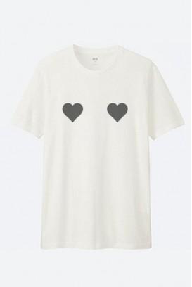 Cotton marškinėliai Širdelės