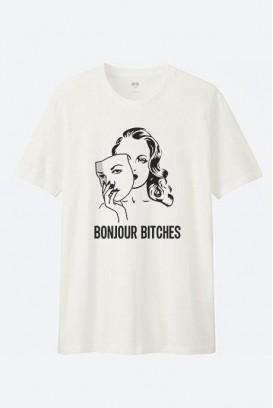 Cotton marškinėliai Bonjour Bitches