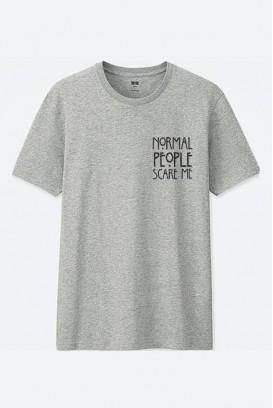 Mot. marškinėliai people scare me