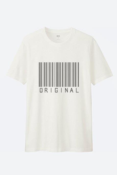 Cotton marškinėliai barcode original