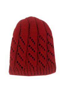 Raudona Knitted kepurė