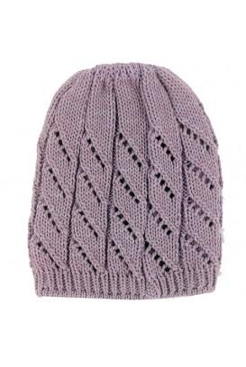 Purpurinė Knitted kepurė