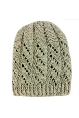 Beižinė Knitted kepurė