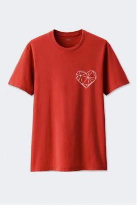 Cotton marškinėliai Geometric heart