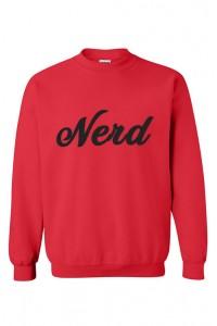 Slogan Nerd džemperis