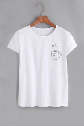Mot. marškinėliai coffee is my valentine
