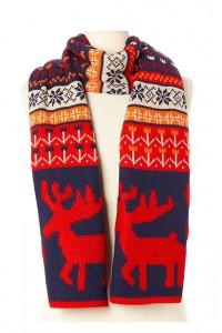Kalėdinis Reindeer šalikas