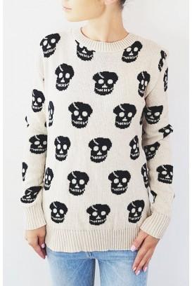 Beižinis Skulls megztinis