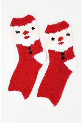 Fluffy Christmas kojinės