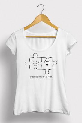 Mot. marškinėliai you complete me
