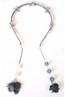 Pearls and diamonds plaukų lankelis