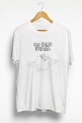 Mot. marškinėliai No bad vibes