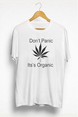 Mot. marškinėliai don't panic it's organic