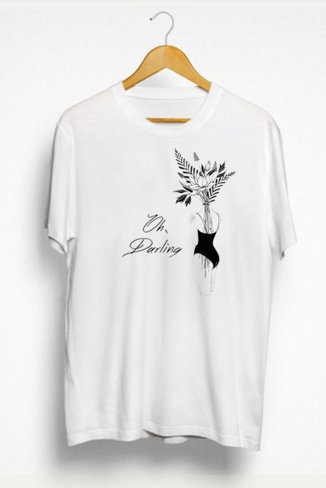 Mot. marškinėliai Oh Darling