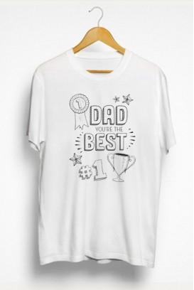 Vyr. marškinėliai Number 1 dad