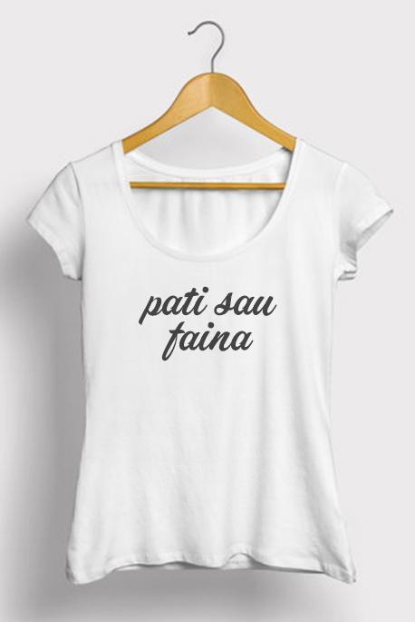 Mot. marškinėliai pati sau faina