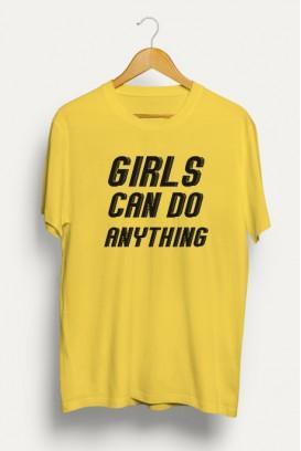 Mot. marškinėliai Girls can do anything