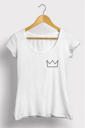 Mot. marškinėliai Crown