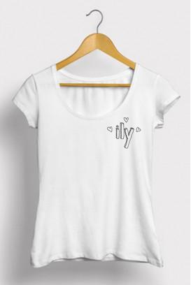 Mot. marškinėliai i love you