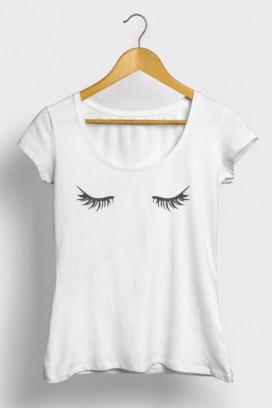 Mot. marškinėliai blakstienos