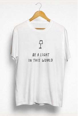 Mot. marškinėliai Be a light