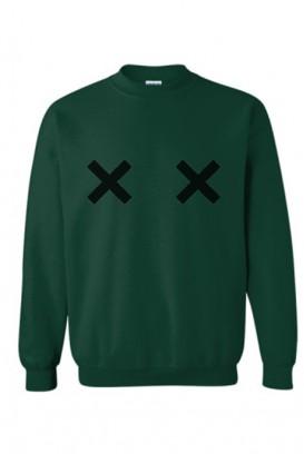 Oversize džemperis CROSSED OUT