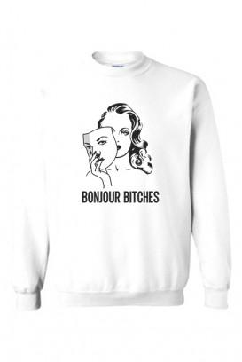Oversize džemperis BONJOUR BITCHES