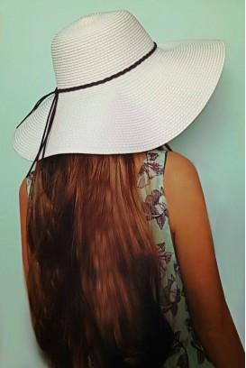Panama skrybėlė su šniūreliu