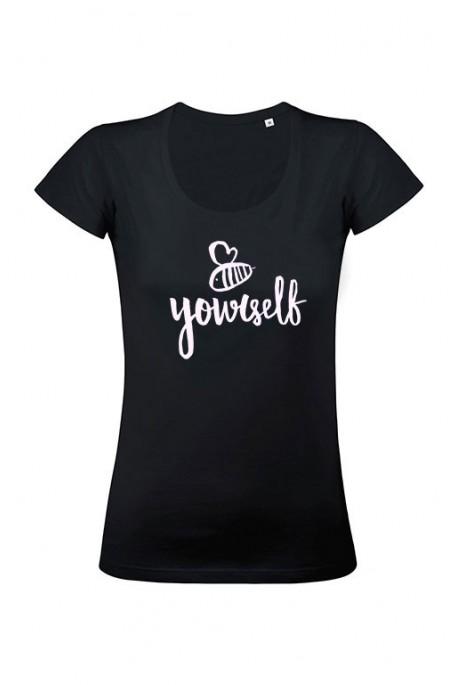 Mot. marškinėliai BE YOURSELF