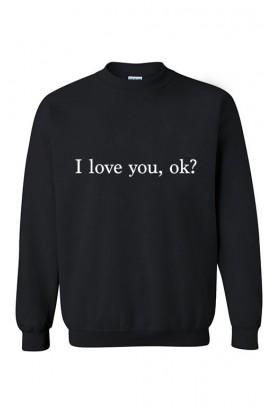 Unisex džemperis I love you