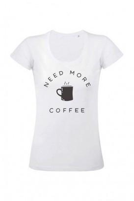 Mot. marškinėliai Need more coffee