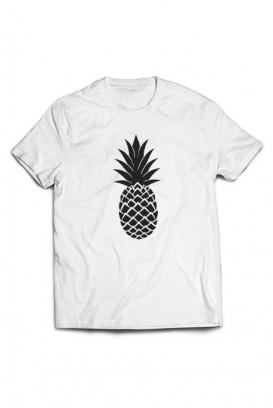 Mot. marškinėliai pineapple