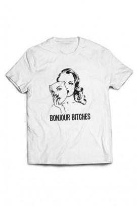 Mot. marškinėliai Bonjour Bitches