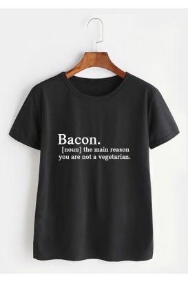 Mot. marškinėliai Bacon