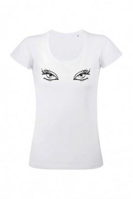 Mot. marškinėliai Eyelashes
