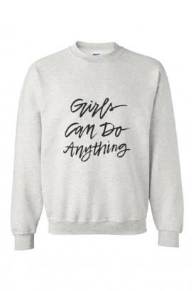Mot. džemperis Girls can do anything