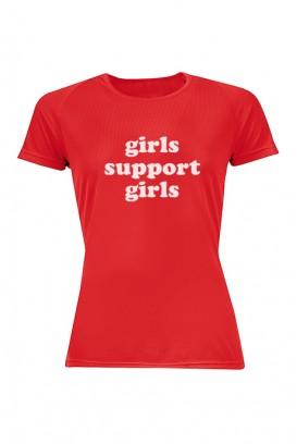 Mot. marškinėliai girls support girls