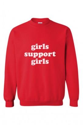 Oversize džemperis girls support girls