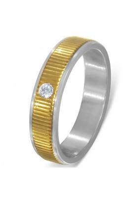 Vestuvinis žiedas su cirkonio kristalu