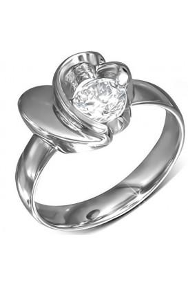 """Plieninis žiedas ,, Heart Flower"""""""