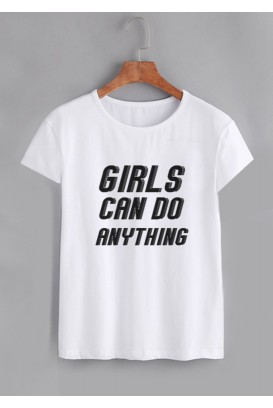 Mot. marškinėliai girls can