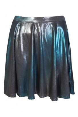 Šlapio efekto 2-tone sijonas