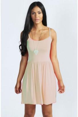Pilkšva Silk suknelė