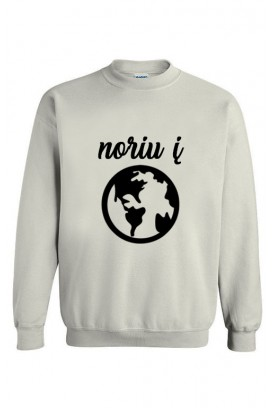 Unisex džemperis noriu į pasaulį