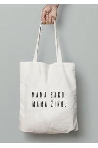 Eko krepšys mama sako, mama žino
