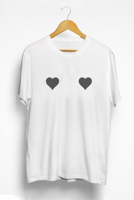 Mot. marškinėliai Širdelės