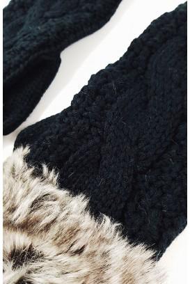 Faux Fur pirštinės (POM POM)